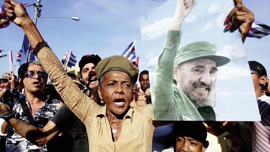 Castro-Anhänger in Havanna