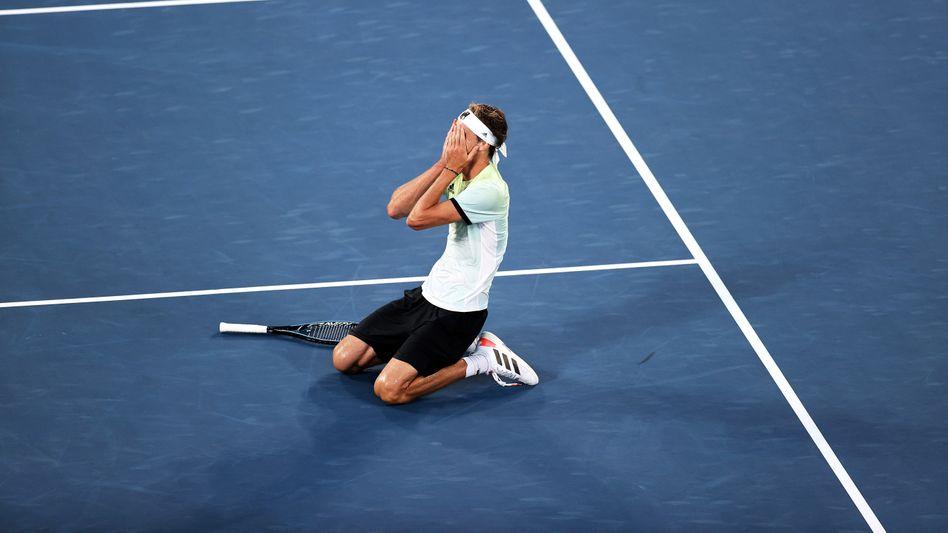 Alexander Zverev im Moment des Triumphes