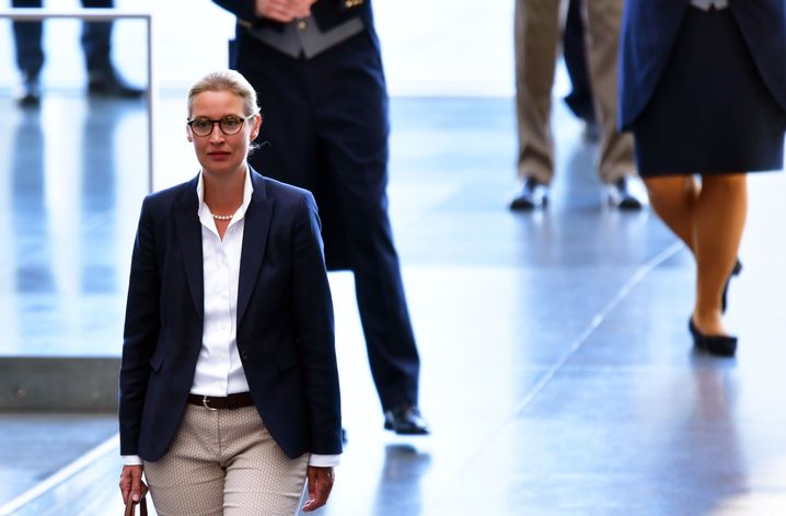 Weidel im Juli im Bundestag: Kein leichter Stand in der eigenen Fraktion