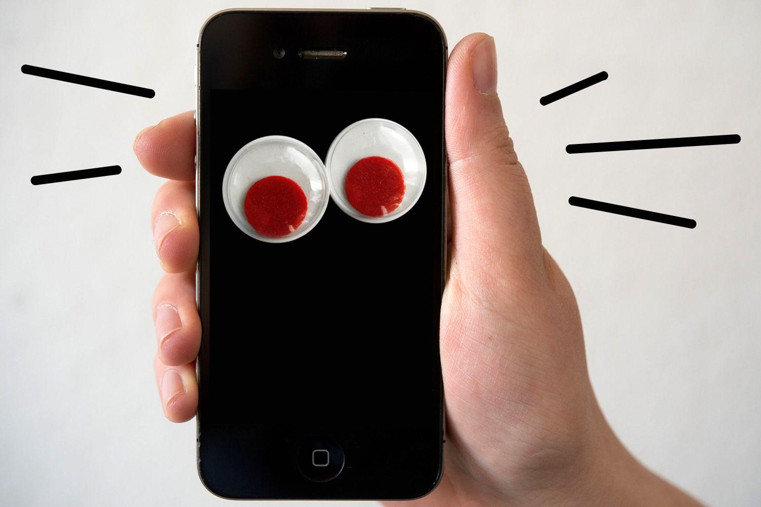 KaSP Handy Augen iPhone SYMBOLBILD