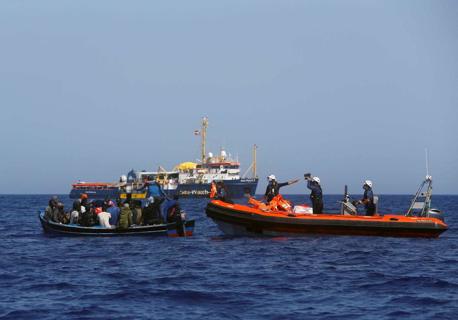 NGO ship Sea-Watch 3 rescues migrants in the Mediterranean