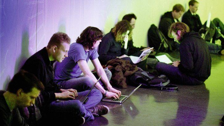 Besucher des Berliner Chaos Communication Congress 2011