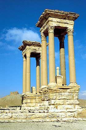 Ruinen der Oasenstadt Palmyra aus dem dritten nachchristlichen Jahrhundert
