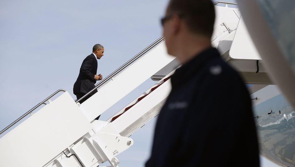 US-Präsident Obama (Archivbild): Schwierige Reise nach Europa