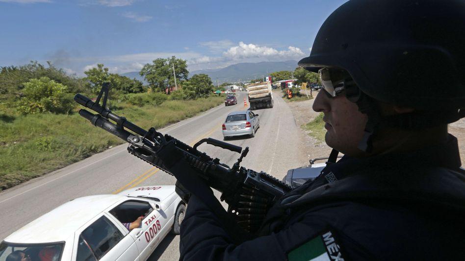 Kontrollposten der Polizei im mexikanischen Bundesstaat Guerrero (Archiv): Auf Studenten geschossen