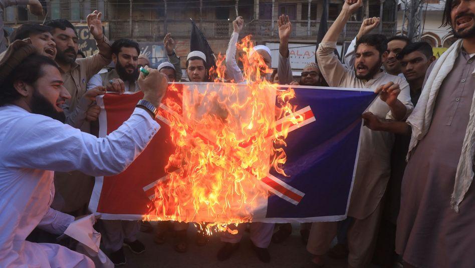 Anti-Frankreich-Proteste in Pakistan am 26. Oktober