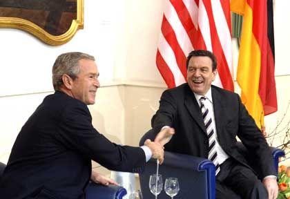 Bush und Schröder: Mainz als ideale Kulisse für die Annäherung gewählt
