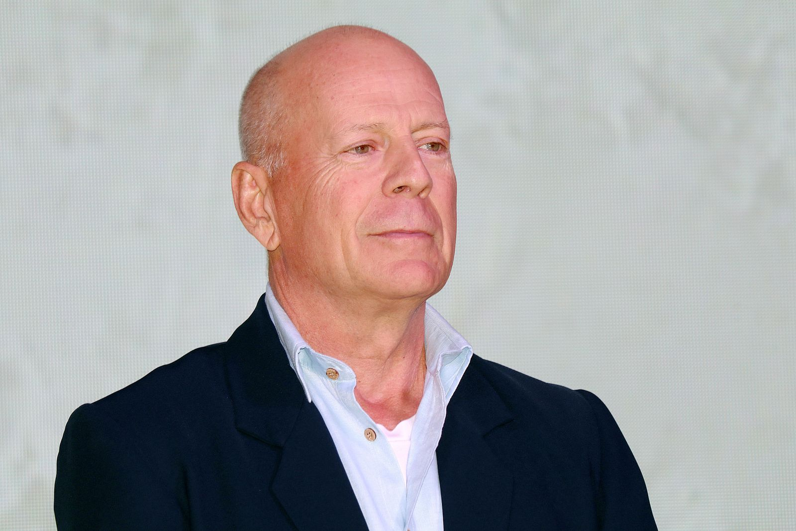 Bruce Willis And Wife Emma Heming Attend CocoBaba And Ushopal Activity In Shanghai