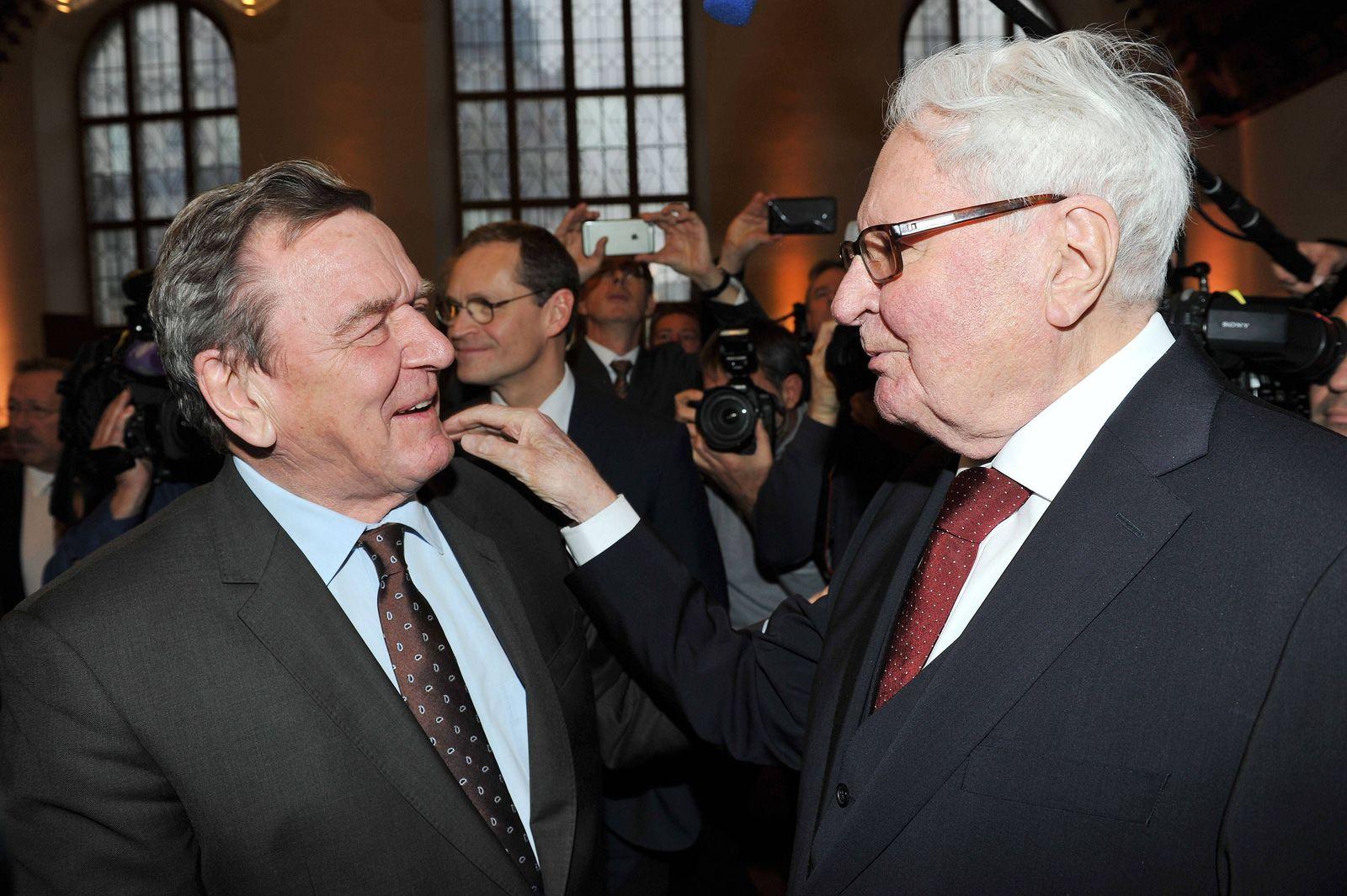 EINMALIGE VERWENDUNG Gerhard Schröder/ Hans Jochen Vogel