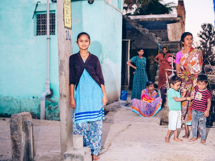An Indian family in the Tumakuru District, located in the state of Karnataka: Often, a family's immediate needs take precedence over education.
