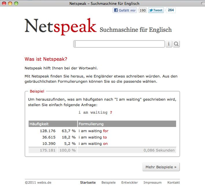 NUR ALS ZITAT Screenshot / Netspeak