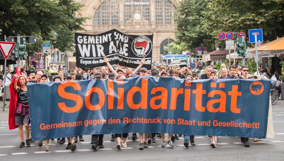 Demonstration in Frankfurt am Main nach dem Mord an Walter Lübcke, 18. Juni 2019