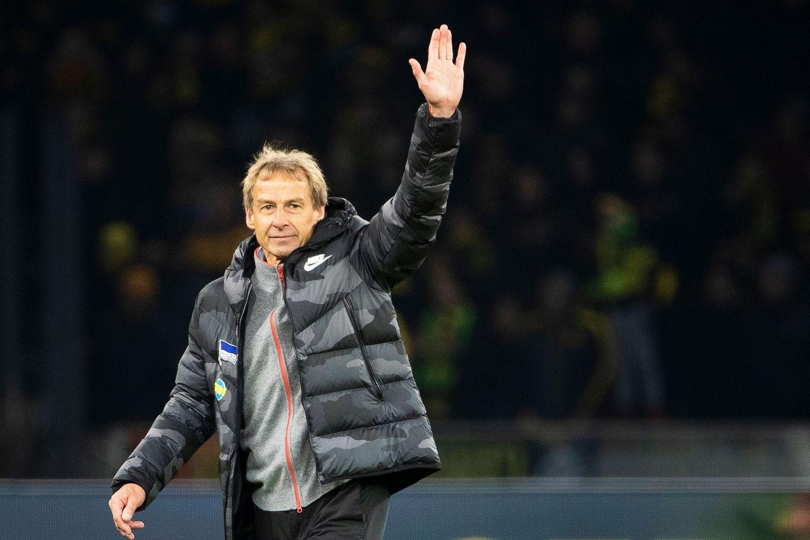 Juergen Klinsmann steps down as Hertha BSC coach, Berlin, Germany - 30 Nov 2019