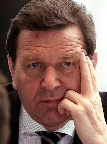Besorgt: Gerhard Schröder