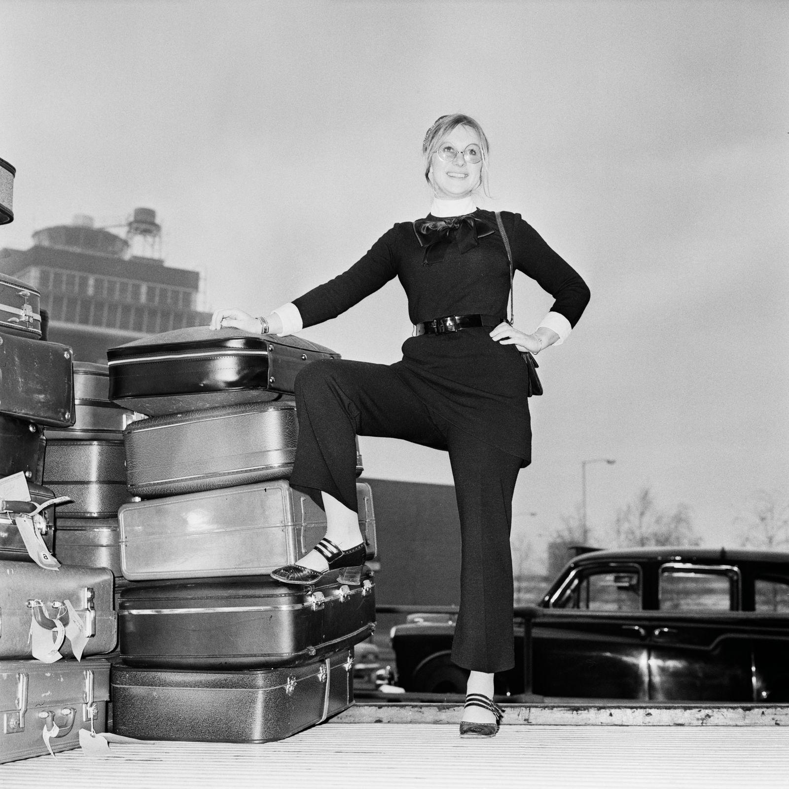Helen Mirren At Heathrow