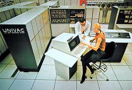 Wozu noch Möbel: ...wenn man einen Univac 1100 hat, der das Büro so schön füllt? (1972)
