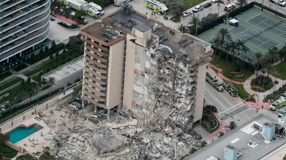 Aus der Luft wird deutlich, wie groß der Schaden ist: Trümmer nahe Miami Beach