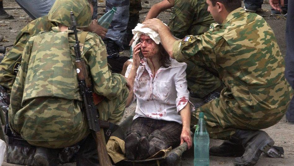 Opfer der missglückten Geiselbefreiung von Beslan, 2004