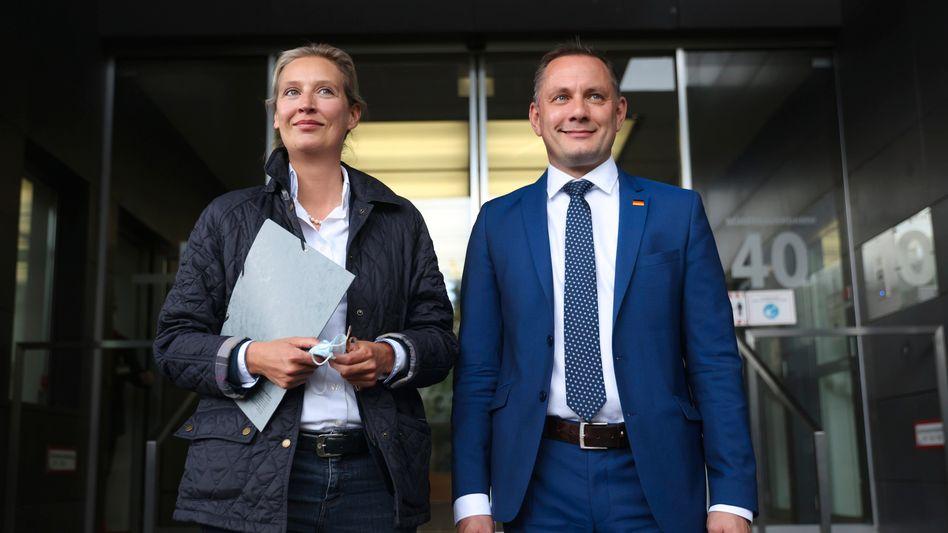 Das AfD-Spitzenduo für die Bundestagswahl: Die Fraktionsvorsitzende Alice Weidel und der Parteivorsitzende Tino Chrupalla