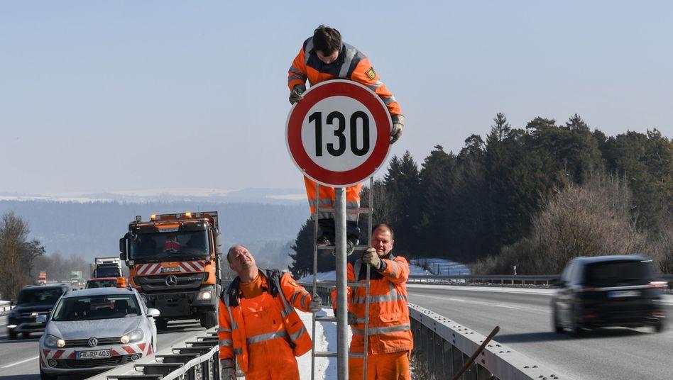 Geschwindigkeitsbegrenzung auf der A81 in Baden-Württemberg