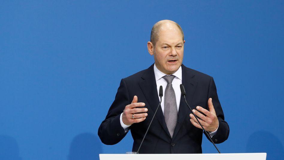 Olaf Scholz, Bundesfinanzminister und SPD-Kanzlerkandidat 2021