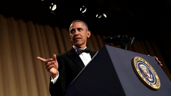 Obama beim White House Correspondents' Dinnner: Zum letzten Mal der Clown