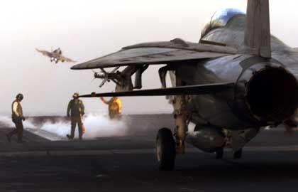 """Startender Jet auf der """"USS CarlVinson"""": """"Sie waren gewarnt"""""""