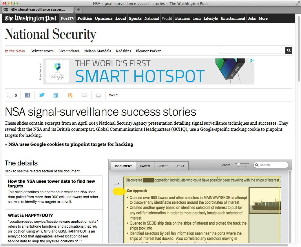 NUR ALS ZITAT Screenshot NSA Cookies