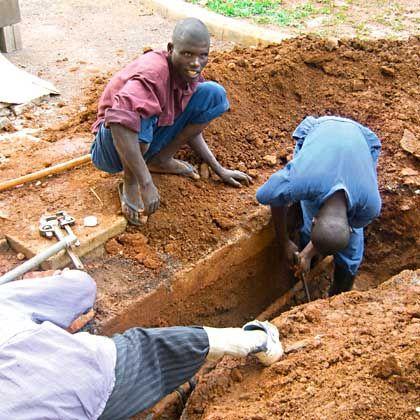 Rwanda's fiber-optic network needs to be buried by hand.