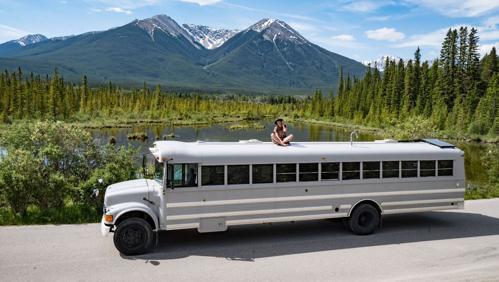 Amerika-Traumreise: Ein Schulbus als Wohnmobil