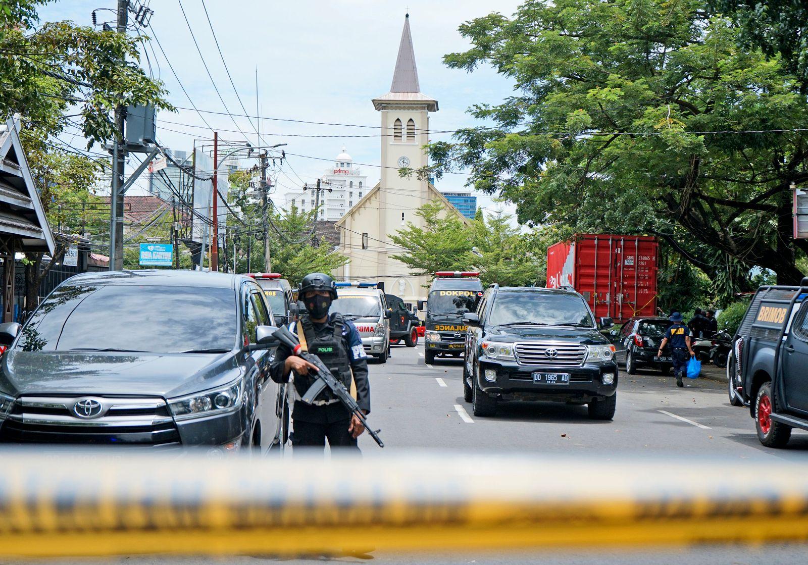 Explosion in Indonesien