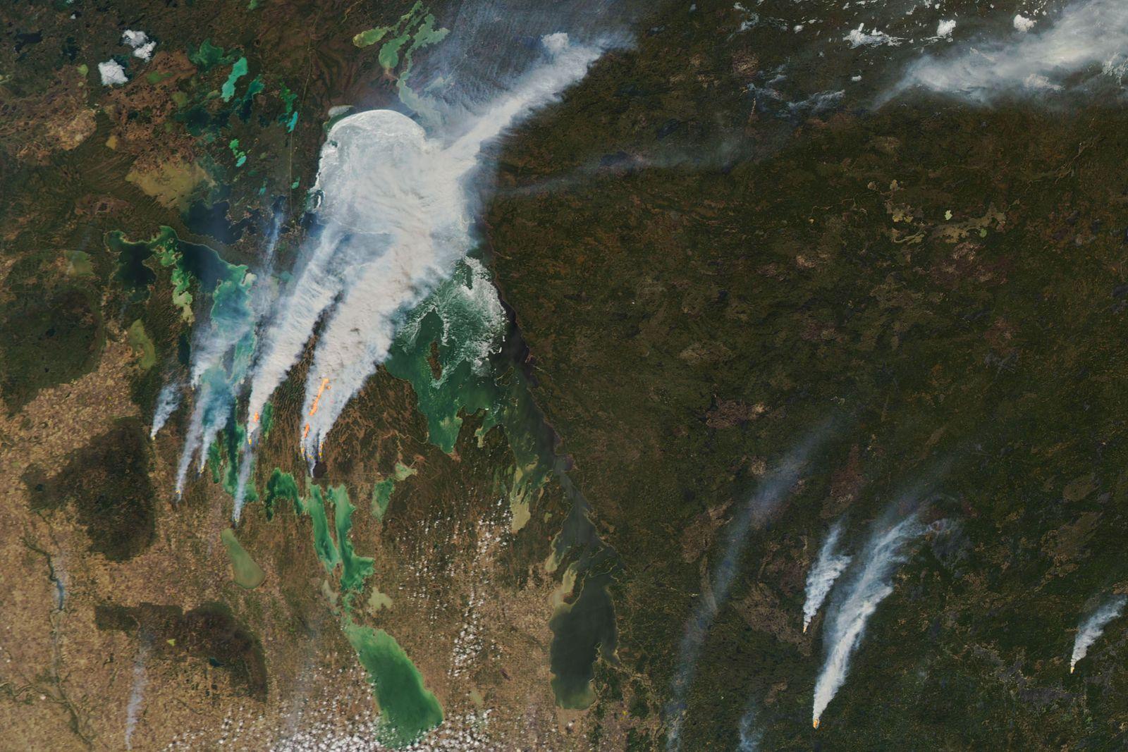 Waldbrände Lake Winnipeg