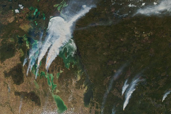Brände um den Lake Winnipeg in Kanada
