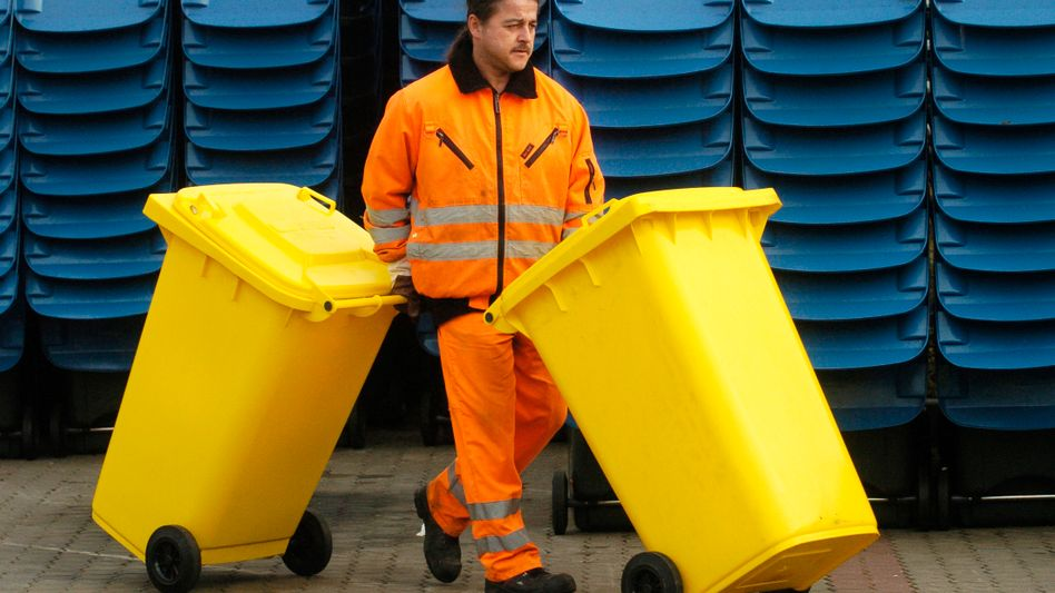 Gelbe Tonnen in Leipzig: Müll als Milliardenmarkt