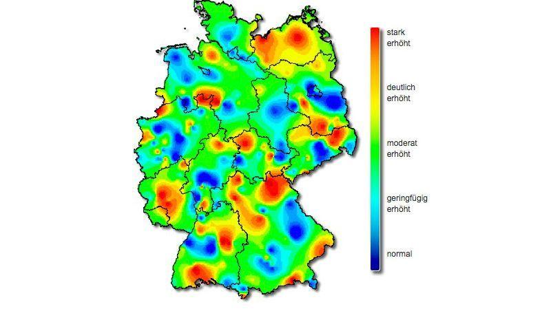 grippe karte deutschland Grippe: Zahl der Fälle sinkt   aber nicht in ganz Deutschland