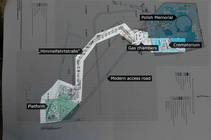 A map of the Sobibór death camp created by the archeologists