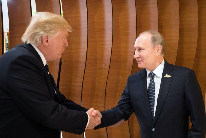 Trump und Putin (Juli 2017 in Hamburg)
