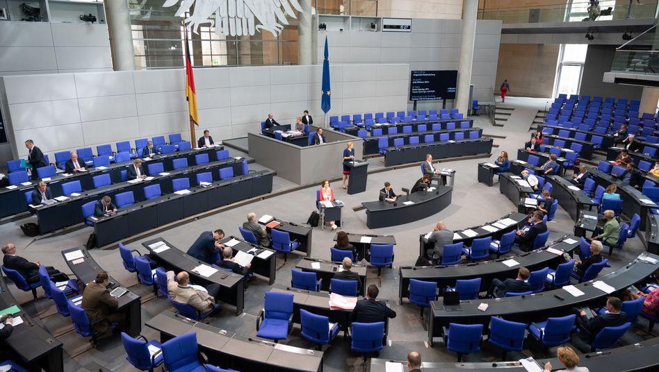Plenum des Deutschen Bundestages in Berlin