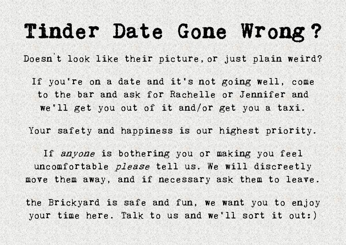 EINMALIGE VERWENDUNG Tinder Date Gone Wrong