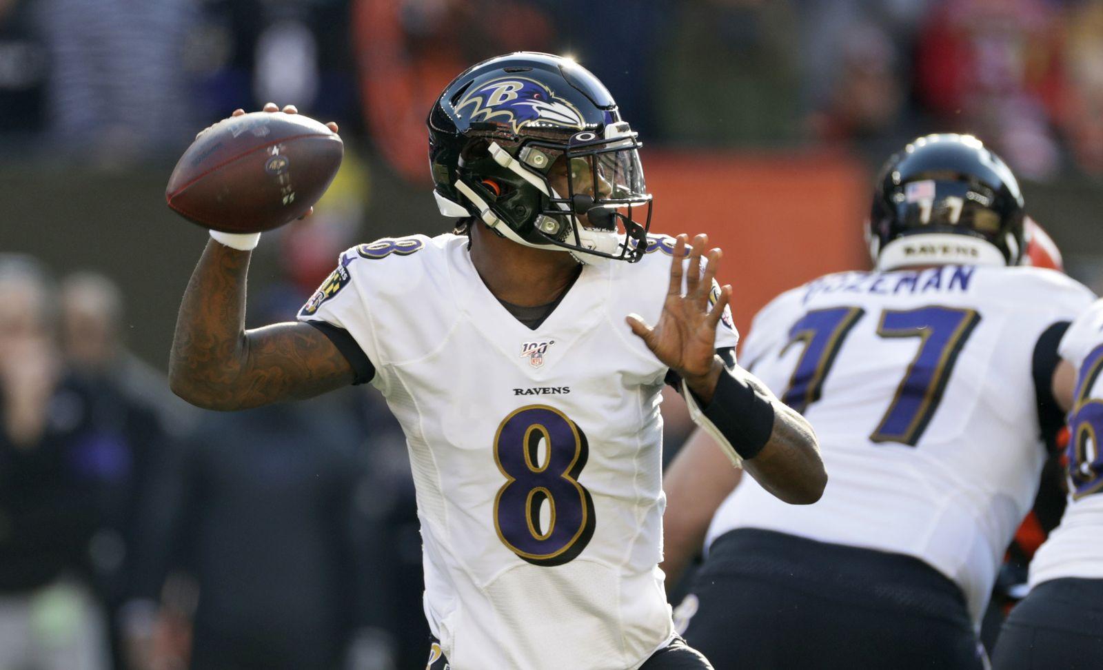 Ravens Browns Football Lamar Jackson