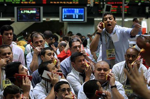 """Börsenmakler (in Brasilien): Die """"Psychologie"""" wird nicht selten als bequeme Ausrede benutzt, wenn Finanzmärkte ins Trudeln geraten"""