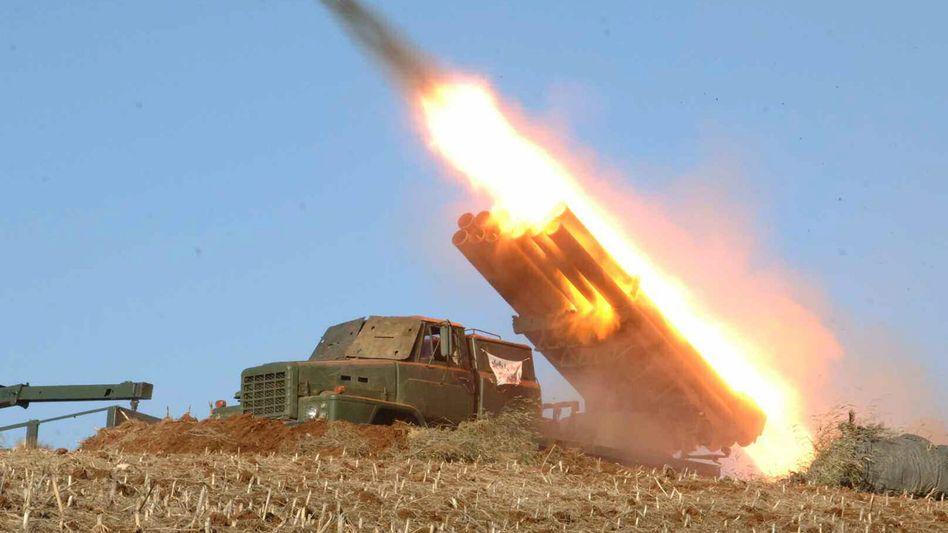 Raketentest in Nordkorea (Archiv)