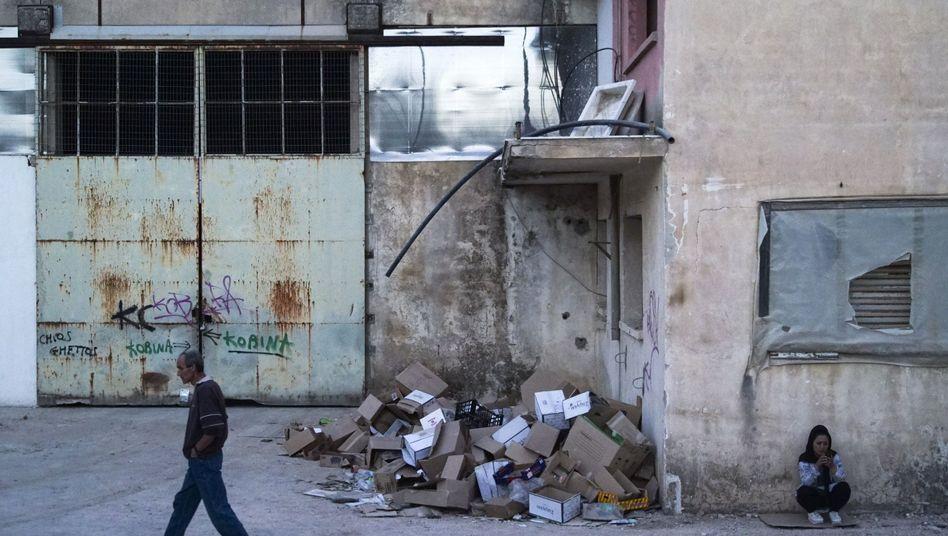 Flüchtlingsunterkunft auf der griechischen Insel Chios