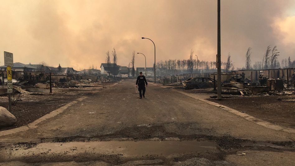 Mountie in Fort McMurray