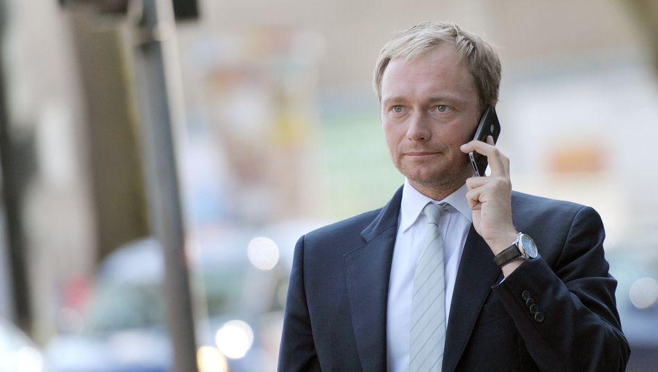 FDP-Politiker Christian Lindner: Bedacht, einen eigenen Kurs zu fahren
