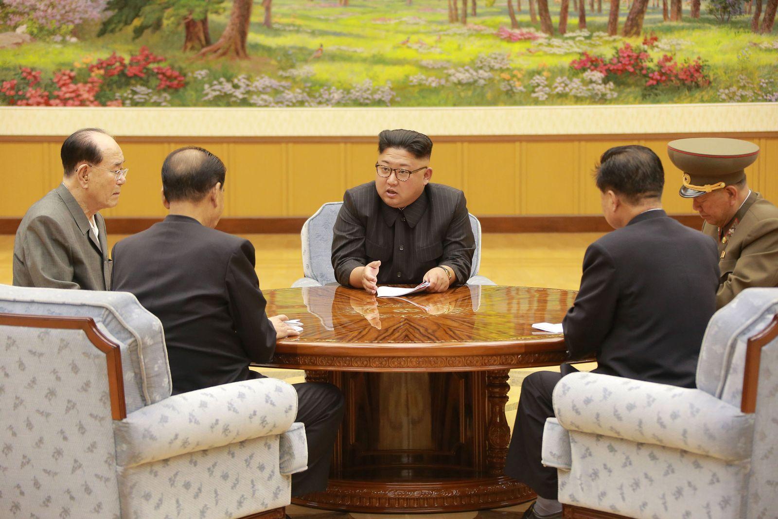 Kim Jong Un/ Raketenstart