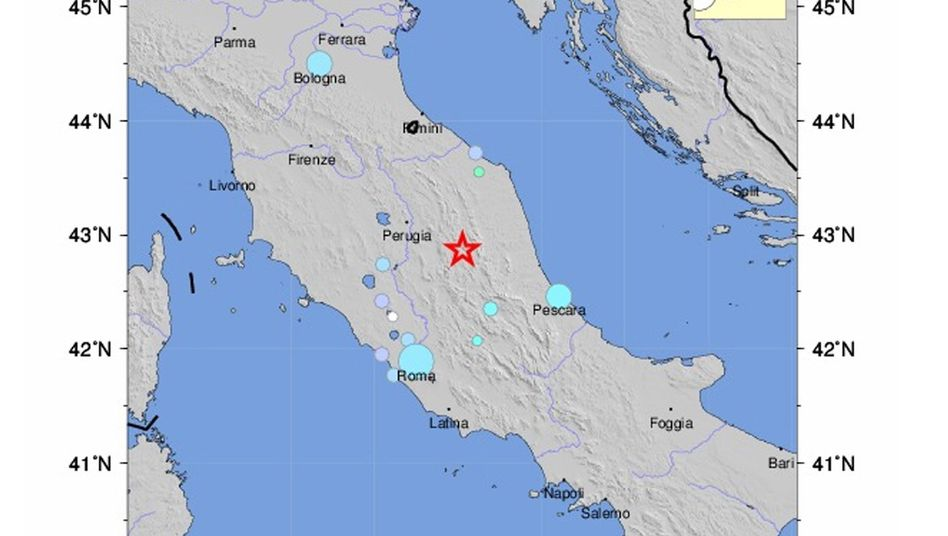 Karte der Erdbebenregion