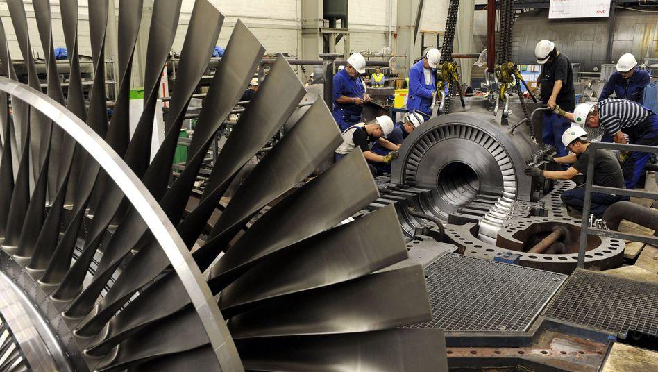 Deutsche Industrie (Archivfoto): Starke Konjunktur, Ärger über Arbeitsmarktpolitik