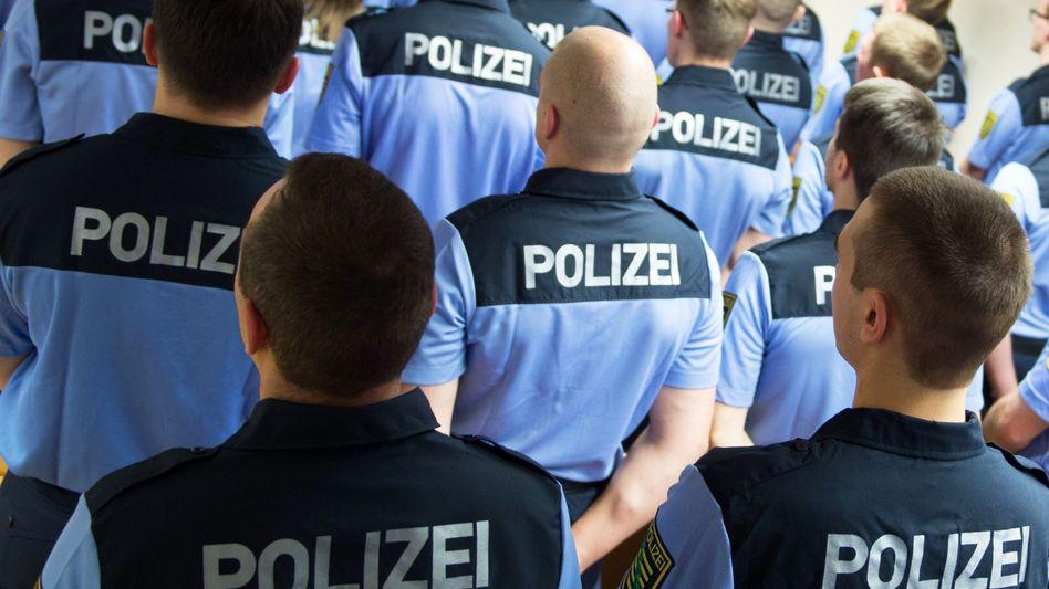 Angehende Polizisten in Sachsen