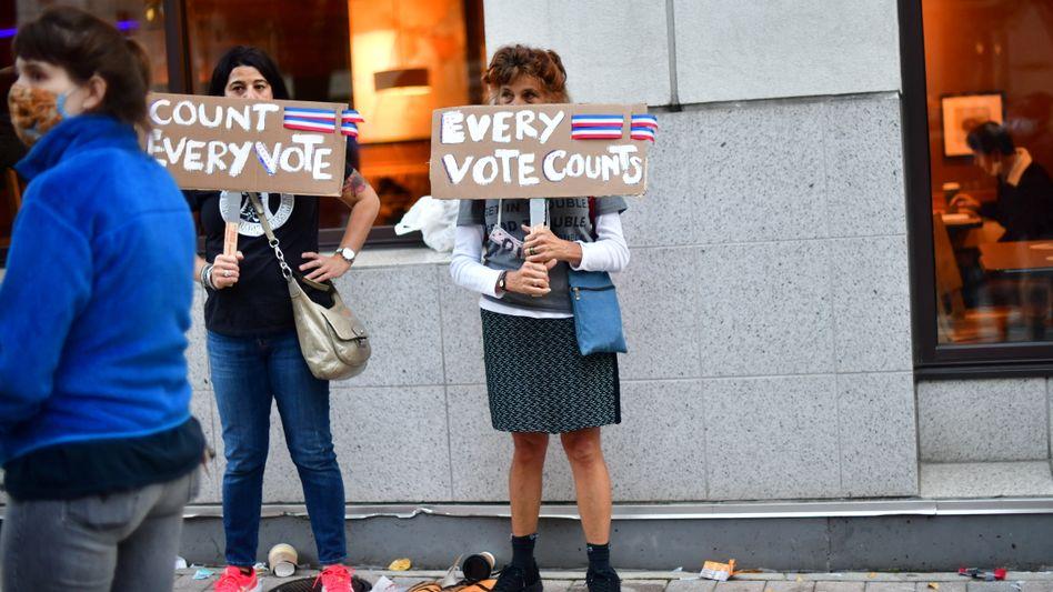 Aktivistinnen in Philadelphia, Pennsylvania